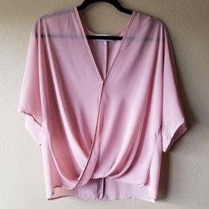WAYF | Blush Pink Wrap Front Top